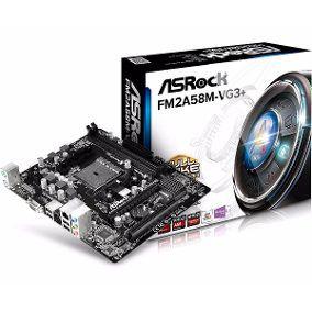 PLACA MAE FM2 MICRO ATX FM2A58M-VG3 DDR3 ASROCK BOX IMPORTADO