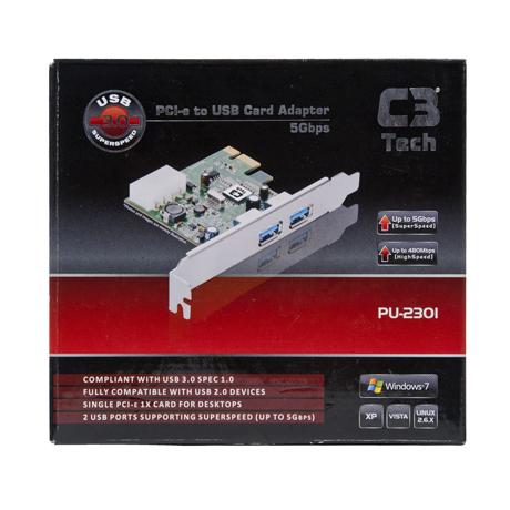 PLACA PCI-E USB 3.0 PU-2301 C3TECH BOX