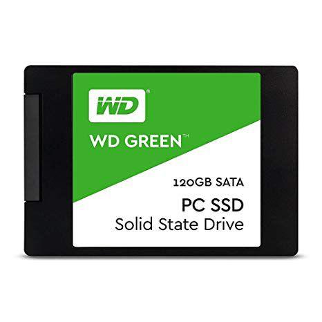 SSD 120GB SATA III WDS120G1G0A-00SS50 WD GREEN WESTERN DIGITAL BOX