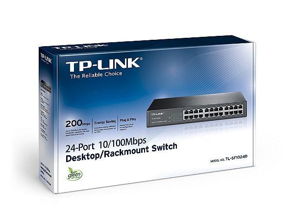 SWITCH 24P 10/100 TL-SF1024D TP LINK BOX IMPORTADO