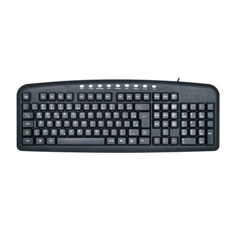 TECLADO USB KB2237BK MULT 110 TECLAS C3TECH BOX