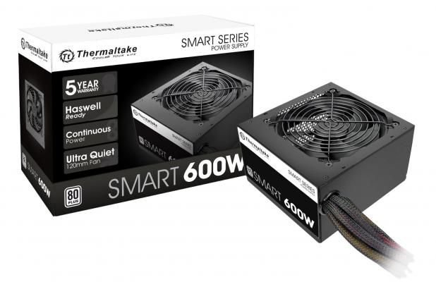 FONTE ATX 600W SMART PS-SPD-0600NPCWUS-W PFC ATVO 80 PLUS WHITE THERMALTAKE BOX