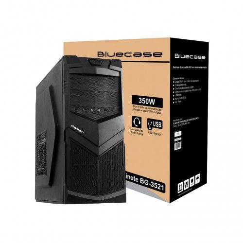 GABINETE BG-3521 C/FONTE 350W PRETO BLUECASE BOX