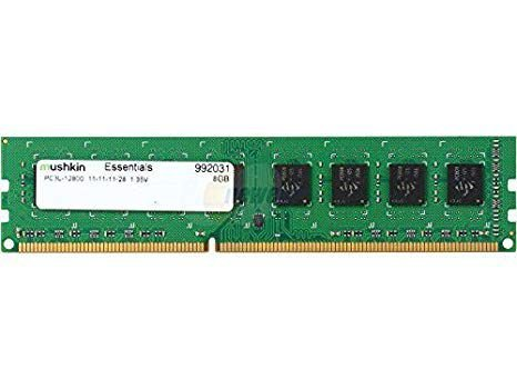 MEMORIA 8GB DDR3 1600 MHZ ESSENTIALS PC3L-12800 11-11-11-28 16CP MUSHKIN BOX