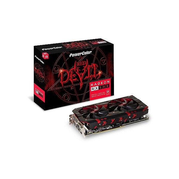 PLACA DE VIDEO 8 GB PCIEXP AXRX 8GBD5-3DH/OC 256BITS GDDR5 POWER COLOR BOX