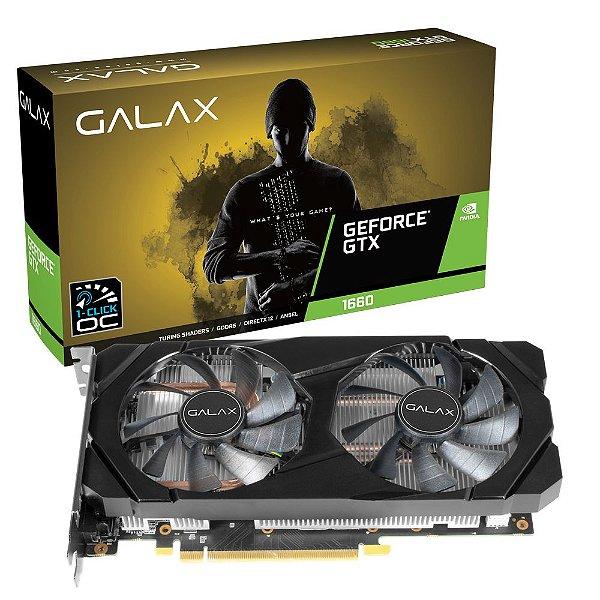 PLACA DE VIDEO 6GB PCIEXP GTX 1660 OC 60SRH7DSY91C 192 BITS GDDR5 GALAX BOX
