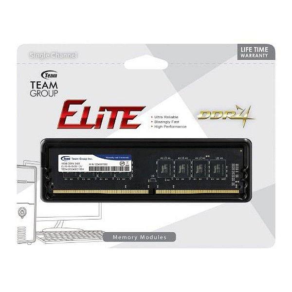 MEMORIA 4GB DDR4 2400 MHZ ELITE TED44G2400C16BK TEAMGROUP BOX