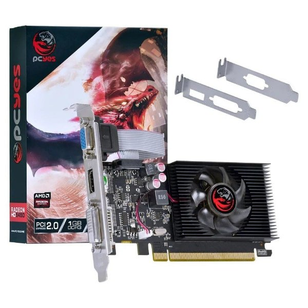 PLACA DE VIDEO 1GB PCIEXP HD 5450 PJ54506401D3LP 64BITS DDR3 RADEON LOW PROFILE PCYES BOX