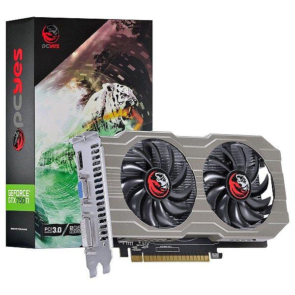 PLACA DE VIDEO 2GB PCIEXP GTX 750 TI PA75012802G5 128BITS DDR5 PCYES BOX