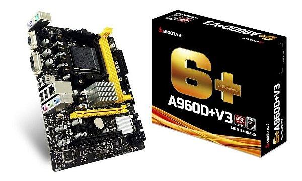 PLACA MAE AM3 MICRO ATX A960D V3 DDR3 VGA | DVI BIOSTAR BOX