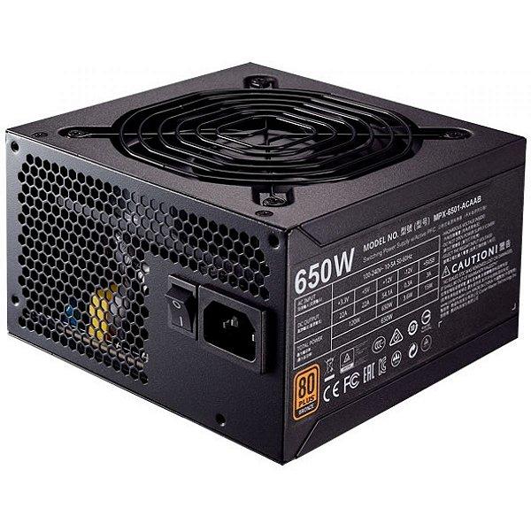 FONTE ATX 650W MPX-6501-ACAAB-WO 80 PLUS - BRONZE MWE COOLER MASTER BOX