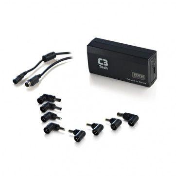FONTE NOTEBOOK 90W NB-90P C/ USB E VEICULAR UNIVERSAL C3TECH BOX
