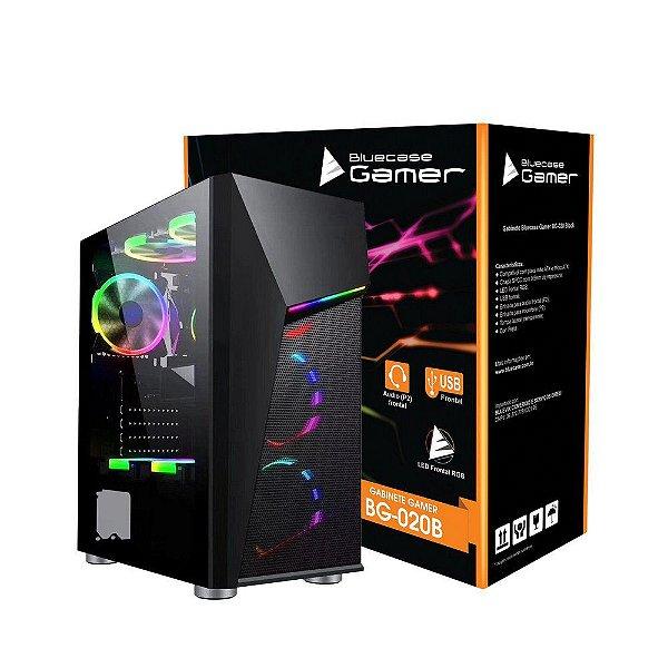 GABINETE BG-020 GAMER S/ FONTE BLACK BLUECASE BOX