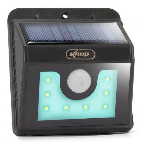 Luminária Solar 8 Leds Com Sensor De Presença