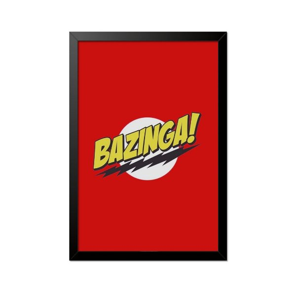 Quadro Poster The Big Bang Theory Bazinga 33x23cm