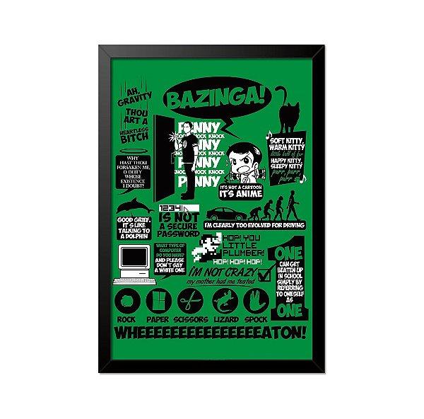 Quadro Poster The Big Bang Theory Referências 33x23cm