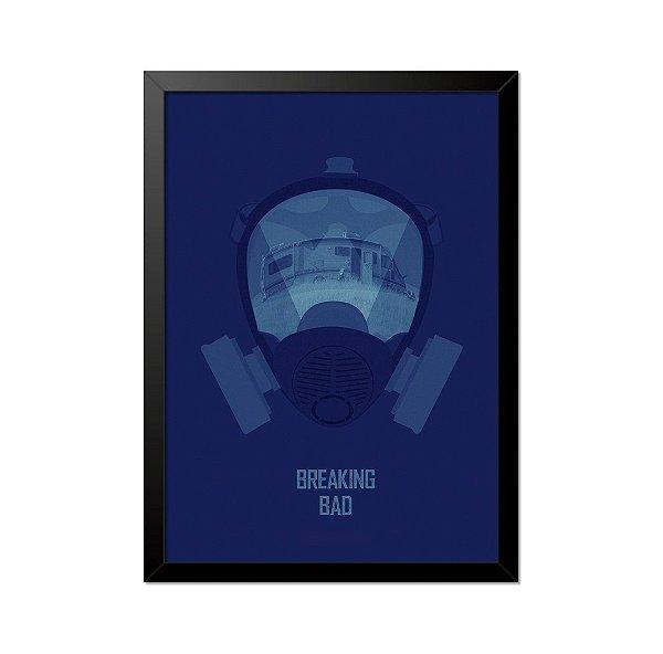 Quadro Poster Breaking Bad Máscara 33x23cm