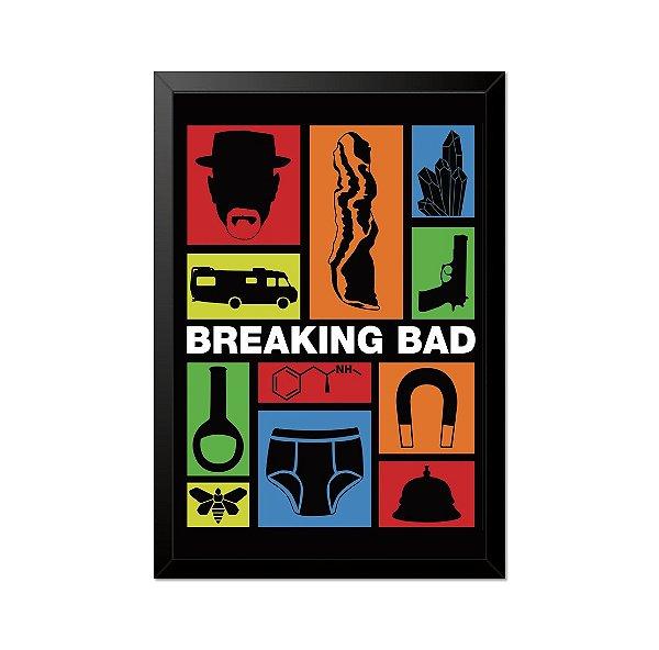 Quadro Poster Breaking Bad Referências 33x23cm