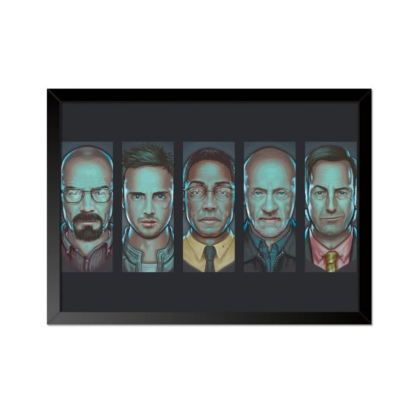Quadro Poster Breaking Bad Personagens 33x23cm