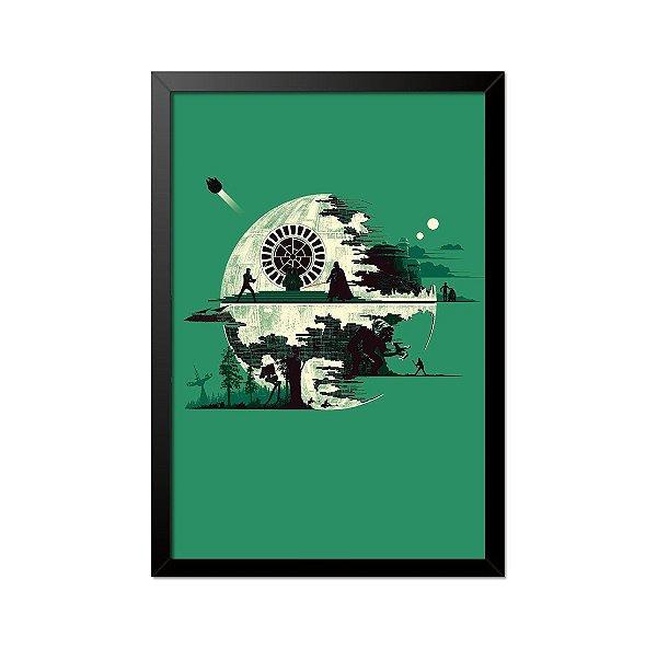 Quadro Poster Star Wars Estrela da Morte 33x23cm