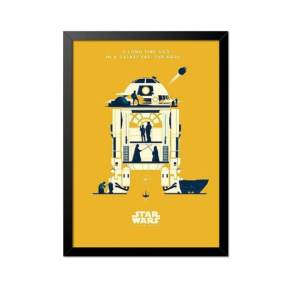 Quadro Poster Star Wars R2 D2 33x23cm