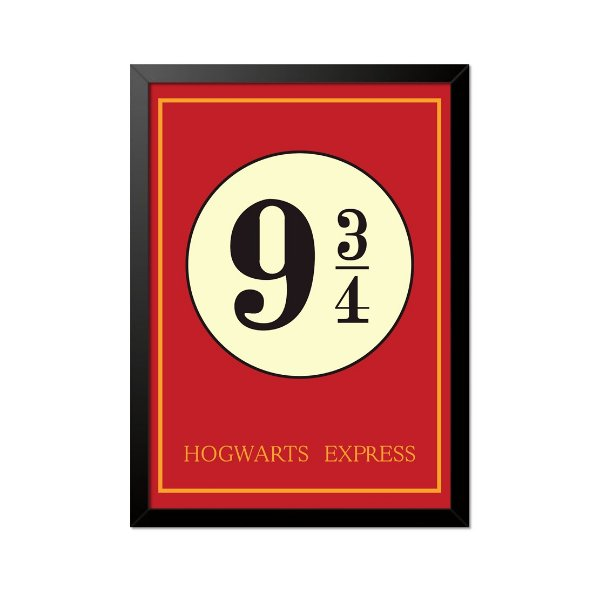 Quadro Poster Harry Potter 9 3 4 33x23cm