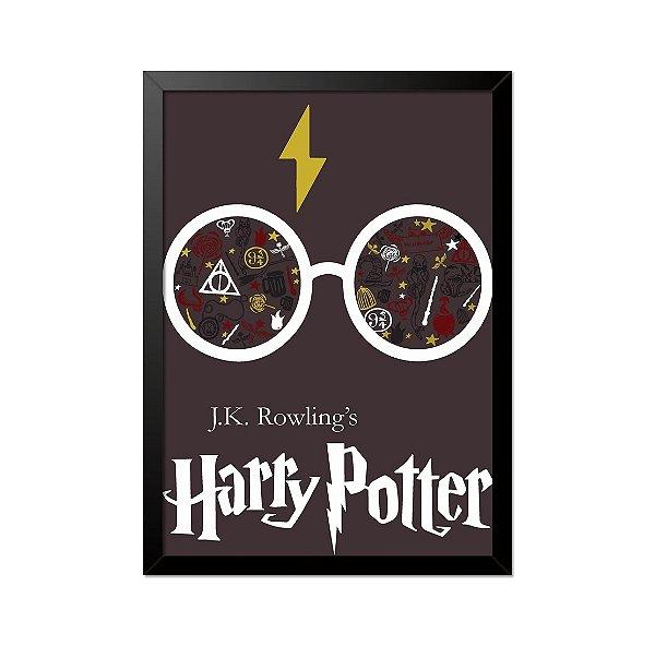 Quadro Poster Harry Potter Óculos 33x23cm