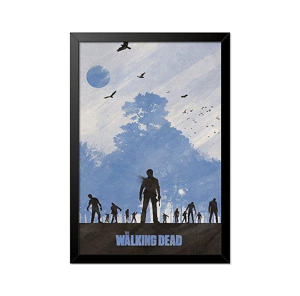 Quadro Poster The Walking Dead Zumbis 33x23cm