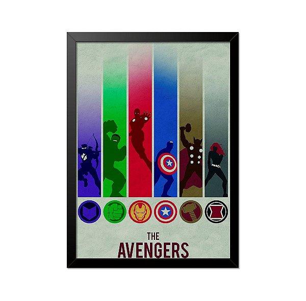 Quadro Poster Vingadores The Avengers 33x23cm