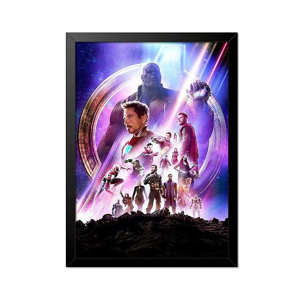 Quadro Poster Vingadores 33x23cm