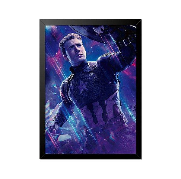 Quadro Poster Capitão América Chris Evans 33x23cm