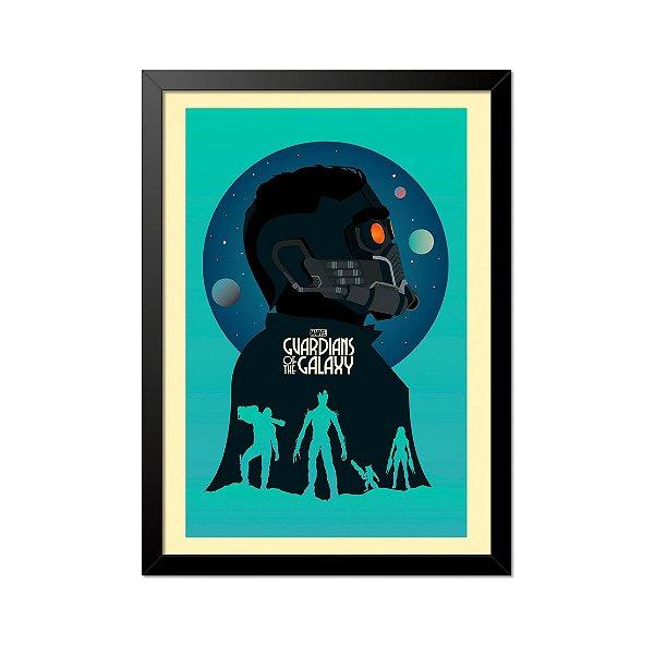 Quadro Poster Guardiões da Galáxia 33x23cm