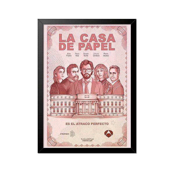 Quadro Poster La Casa de Papel Atraco 33x23cm