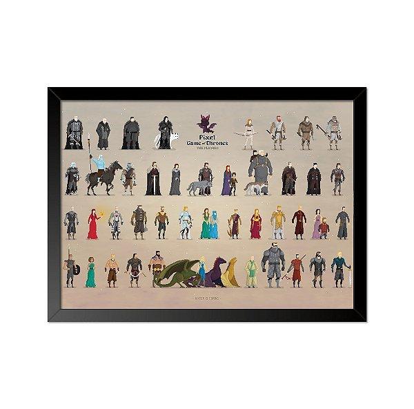 Quadro Poster Game of Thrones Pixel 33x23cm