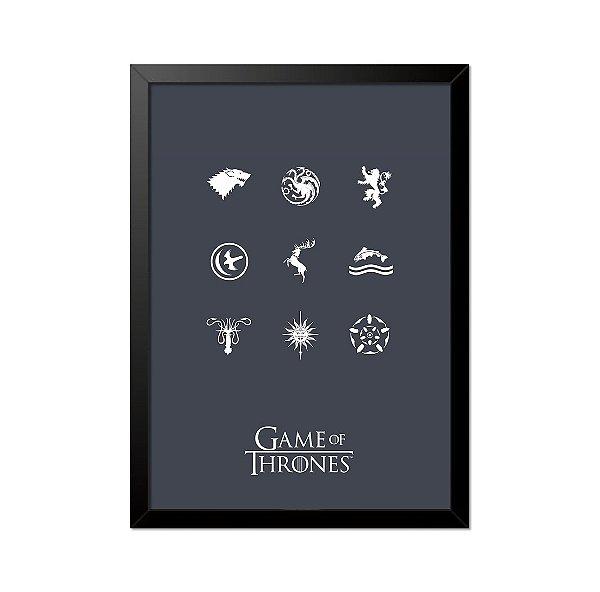 Quadro Poster Game of Thrones Casas 33x23cm