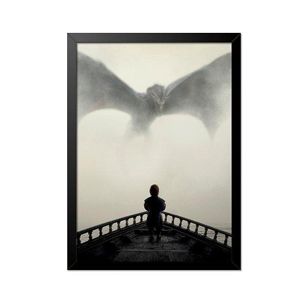 Quadro Poster Game of Thrones Tyrion e Dragão 33x23cm