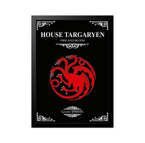 Quadro Poster Game of Thrones House Targaryen 33x23cm