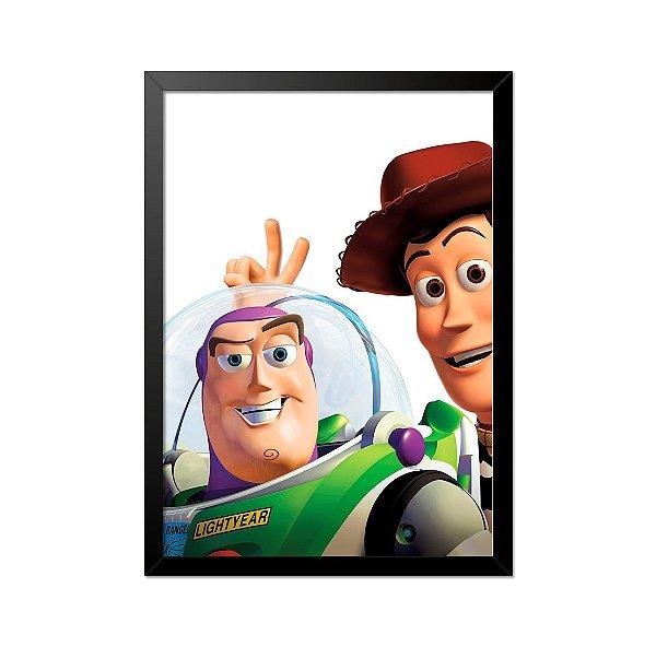 Quadro Poster Toy Story Buzz e Whoody 33x23cm