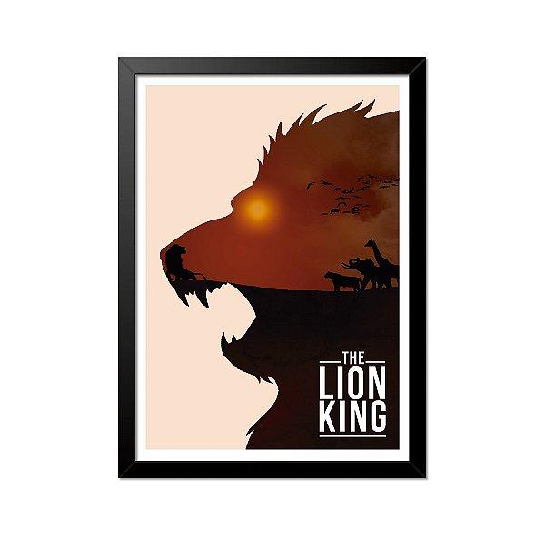 Quadro Poster O Rei Leão The Lion 33x23cm