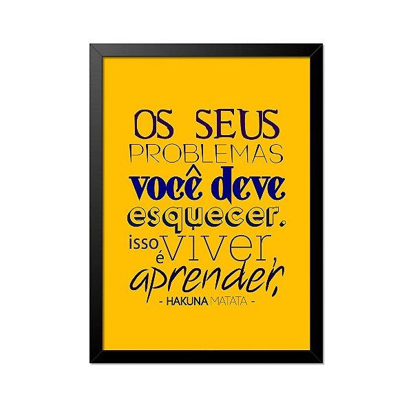 Quadro Poster O Rei Leão Hakuna Matata 33x23cm