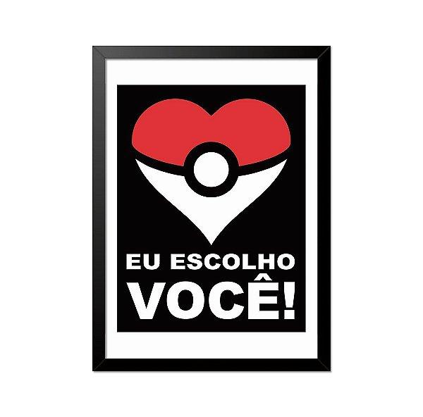 Quadro Poster Pokémon Poke Coração 33x23cm
