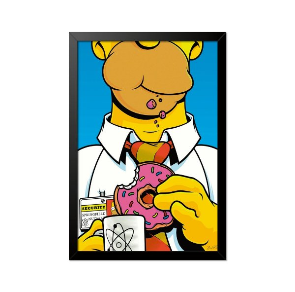 Quadro Poster Simpsons Donut 33x23cm