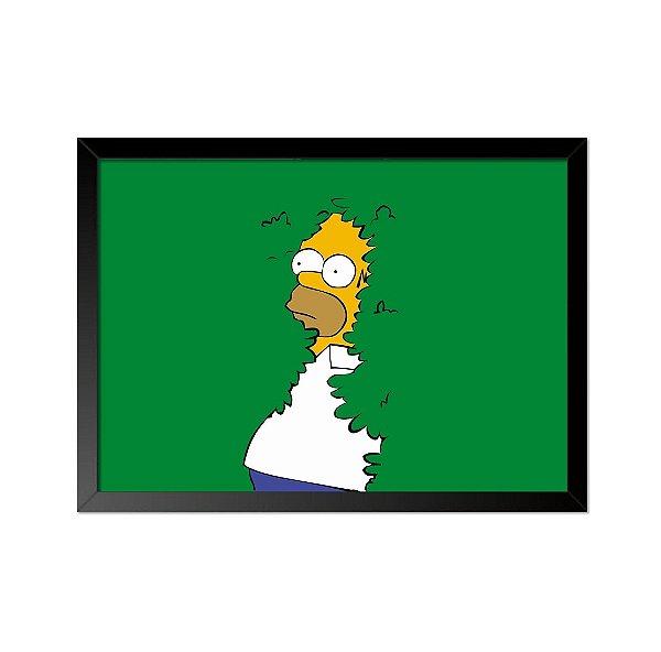 Quadro Poster Simpsons Esconderijo 33x23cm