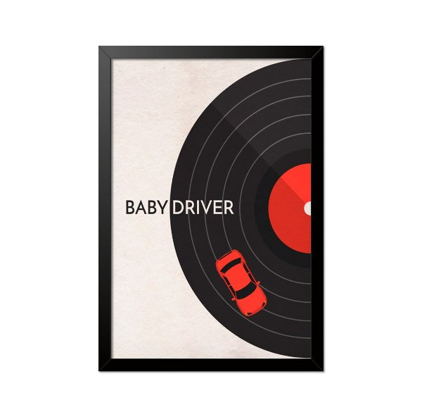 Quadro Poster Baby Driver Disco 33x23cm