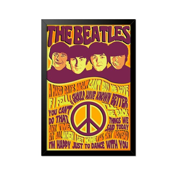 Quadro Poster The Beatles 33x23cm