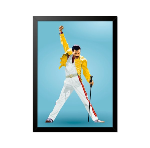 Quadro Poster Freddie Mercury Queen 33x23cm