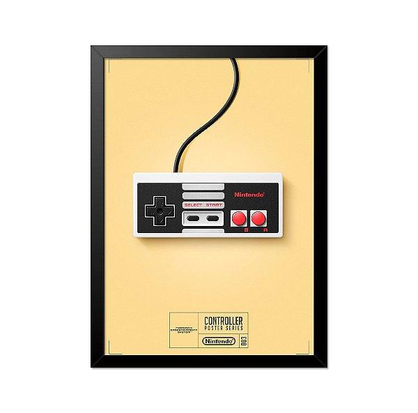 Quadro Poster Controle Nintendo 33x23cm