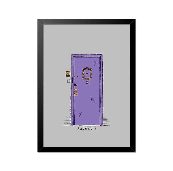 Quadro Poster Seriado Friends Porta 33x23cm