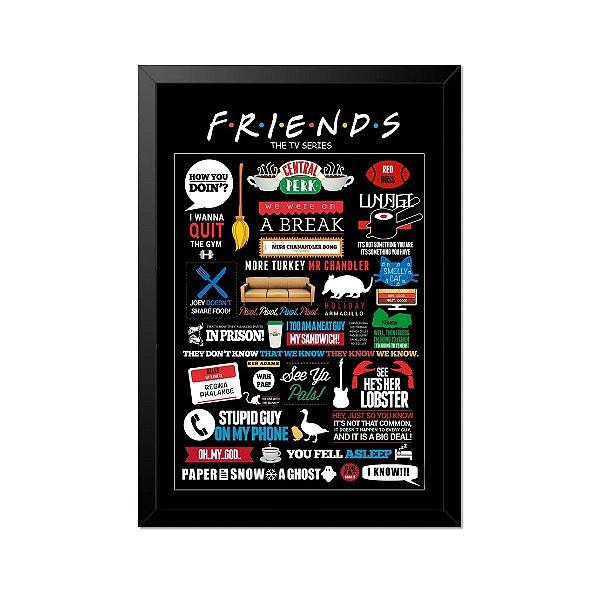 Quadro Poster Seriado Friends Referências 33x23cm