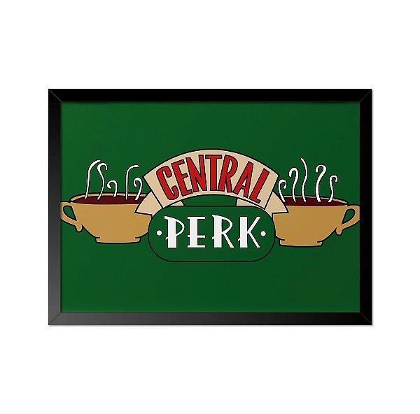 Quadro Poster Seriado Friends Central Perk 33x23cm